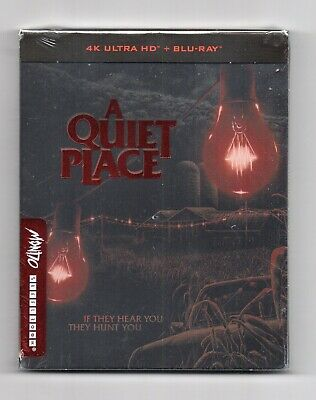 A Quiet Place - 4K UHD + 2D Blu-ray Steelbook - NEW/SEALED-All Regions