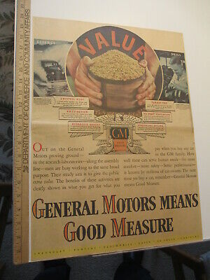 newspaper ad 1937 GENERAL MOTORS automobile car Cadillac Buick Olds Pontiac AW