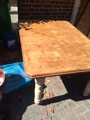 CHARACTERFUL 19th CENTURY PINE FARMHOUSE KITCHEN DINING TABLE