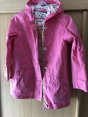 Joules Right As Rain Pink Rainjacket Age 11-12 Years