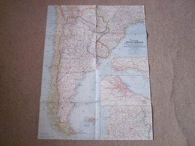 Southern South America  -  National Geographic Map . 1958  *