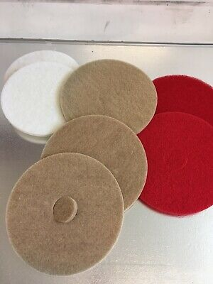 Floor cleaning machine pads