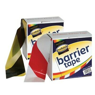 Barrier Tape 500m black/yellow & red/white