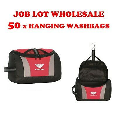Job Lot Wholesale Pack of 50 Hanging Wahbags Travel Wash Toiletry Wash Bags