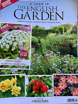 A YEAR IN THE ENGLISH GARDEN 2020 With Flower Seeds Pack