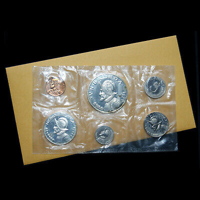Republic Of Panama Official 1971 Proof Set(6 Coins)2 Coins Silver Issue+Envelope