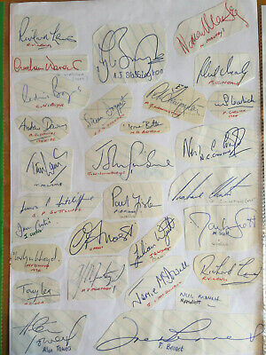 1970s Signed by 29 County players Team Sheet Doggart Meale Towers Lea Clinton