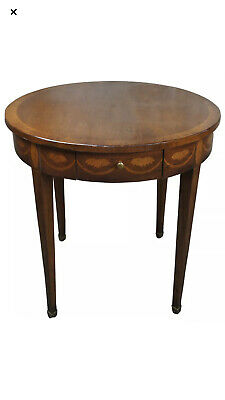 """Antique Round Chippendale """"Baker"""" Table Mahogany Inlaid Side. Free Shipping"""