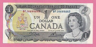 1973 $1 Bank of Canada Note Crow Bouey AU