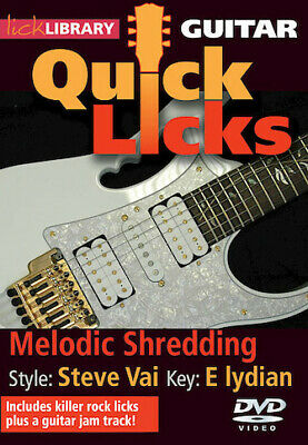 Melodic Shredding - Quick Licks Style: Steve Vai; Key: E lydian