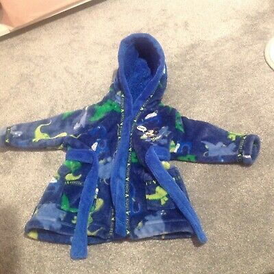 Disney Dinosaur Dressing Gown Hooded 3-6 Months Ex Con MICKEY MOUSE