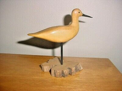 Vintage Miniature Shore Bird Carving By Gina Henson East Orleans Mass. Cape Cod