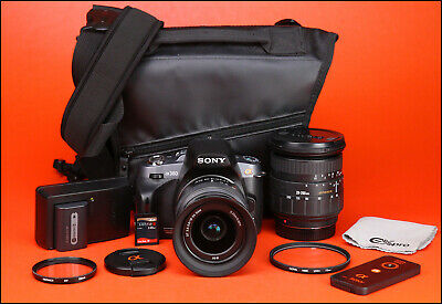 Sony Alpha A380 DSLR Camera & Sony 18-55mm & Sigma 28-200mm Zoom Double Lens Kit
