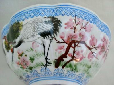 Amazing Signed Contemporary Ultra Thin Chinese Porcelain Hand Painted Bowl.