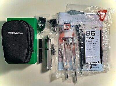 Welch Allyn Student Diagnostic Set 3.5V Otoscope Opthalmoscope- Complete Set