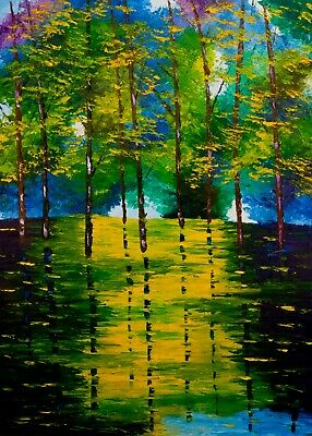 "Swamp Trees Petrosova Original Oil Painting Impressionism 16""x20"""