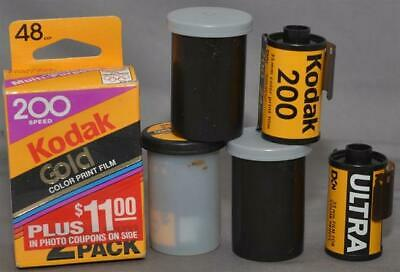 7 Rolls Kodak 200 speed Color Print Film + 1 - Expired