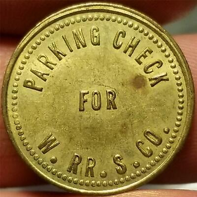 Vtg. Maverick Token PARKING CHECK FOR W.RR.S. CO. Railway ? WITH PURCHASE ONLY