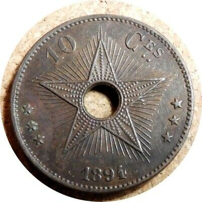 elf Congo Free State 10 Centimes 1894  Star