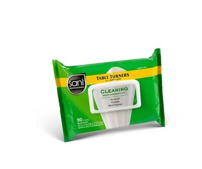 The Best! Pro.Table Turners Multi Purpose Wipes Pre Moistened 90 Ct