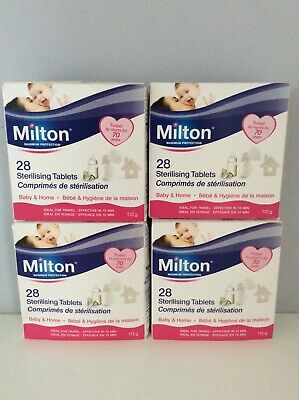 4x Milton Sterilising Tablets Steriliser for Cold Water FREE DELIVERY