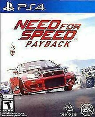 Need for Speed Payback (Sony PlayStation 4, 2017) DISC IS MINT