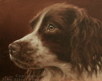 SPRINGER SPANIEL DOG ART ORIGINAL OIL PAINTING by UK Master Artist JOHN SILVER