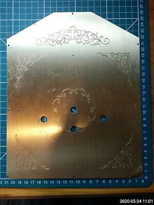 Wall Clock back plate Brass Face Dial -  engraved