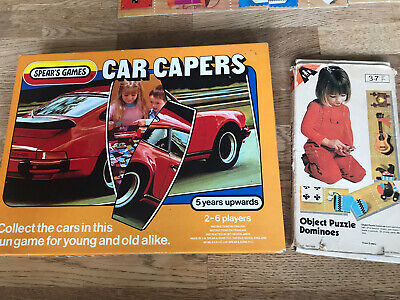 Vintage Games - Abbatt Toys Object Puzzle Dominoes &  Car Capers By Spears Games