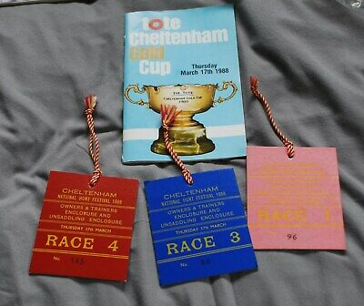 3 Owners Winners Encloseures Badges For 3 Races Cheltenham Gold Cup Day March 88