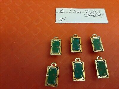 Vintage Gumball/Vending Pool Table Charms Lot Of 6