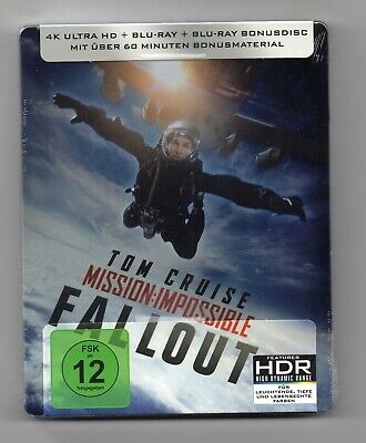 Mission: Impossible - Fallout - 4K UHD + 2D Blu-ray Steelbook - NEW/SEALED