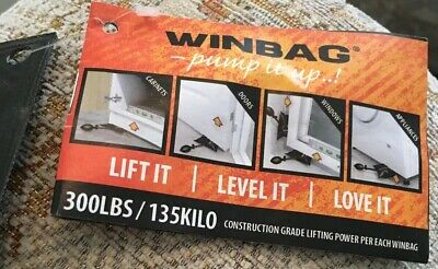 WINBAG Air Wedge Pump Up Bag for fixing/levelling DOORS FRAMES 135kg lift