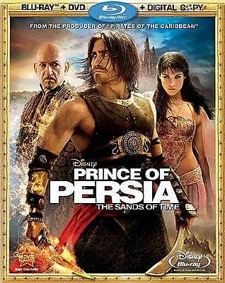 Prince of Persia: The Sands of Time (Blu-ray/DVD, 2010, 3-Disc Widescreen).