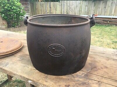 Barn Find Large Antique Kendrick & Sons 7 Gallon Cooking Pot Open Fire Stove