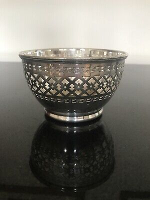 English Silver Plated Sweets, Rose Petals EPSN Bowl, Lovely Design