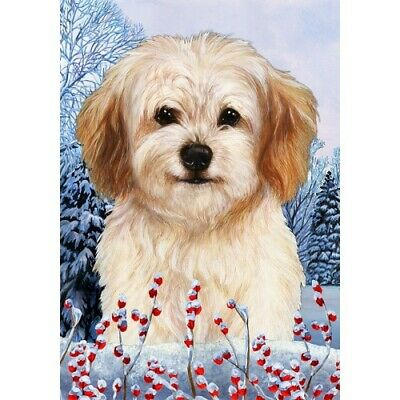 Winter Garden Flag - Cavachon 154631