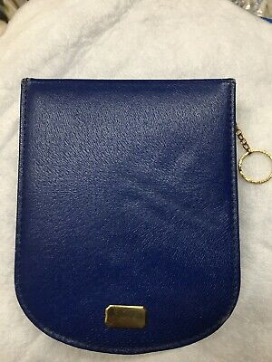 Vtg Belding Corticelli Leather Zip Case Sewing Travel Kit Silk Thread Beautiful