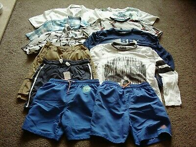 Job Lot Bundle Boys Clothes F&F Size 11 To 12 Years Swimming Shorts Shirts Tops