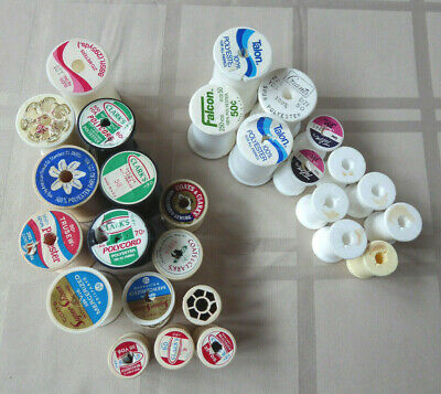 Vintage Small Lot Of Empty Thread Spools - Plastic & Styrofoam Type - Crafts!!