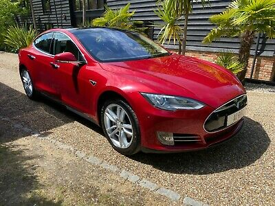 2015 Tesla Model S 85 Kw Red/Camel 38K Miles  Fsh Pan Roof 1 Owner Immaculate