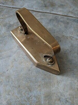 Super Rare Antique Vintage Solid Brass Tailors Flat Iron Sad Iron