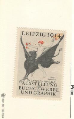 Leipzig Book And Graphics Exhibition 1914 Poster Stamp, Mnh, Og