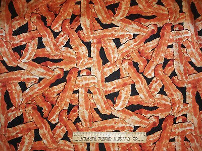 """Bacon n Print 100% Cotton Fabric 45"""" W Sold By the Yard"""