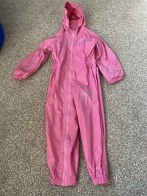 Reggatta Pink Wet/Puddle Suit with Isolite age 36-48 months 3-4 years