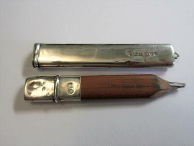 ANTIQUE WW1 Period SOLID SILVER CASED PENCIL FOR WATCH CHAIN - Chester 1918!