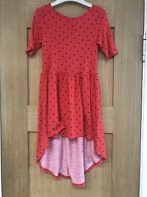 Next Girls Black Spotted Red Dress Age 4 Years