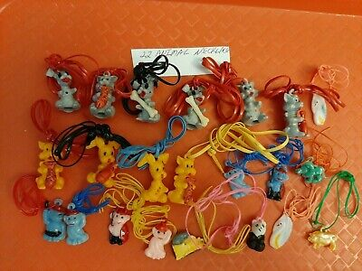 Vintage Gumball/Vending Animal Charms/Necklaces Lot Of 22
