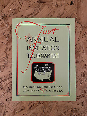 Very Rare First 1934 Us Masters Programme Augusta National Reprint