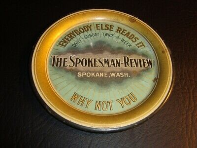 Circa 1900 Spokesman-Review Tip Tray, Spokane, Washington